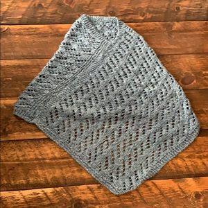 Sweaters - Beautiful soft blue knit poncho